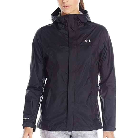 under armour black jacket womens